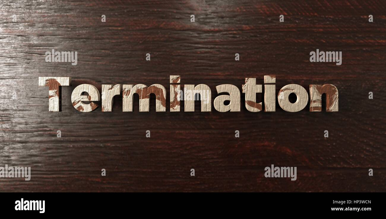 Termination - grungy wooden headline on Maple  - 3D rendered royalty free stock image. This image can be used for - Stock Image