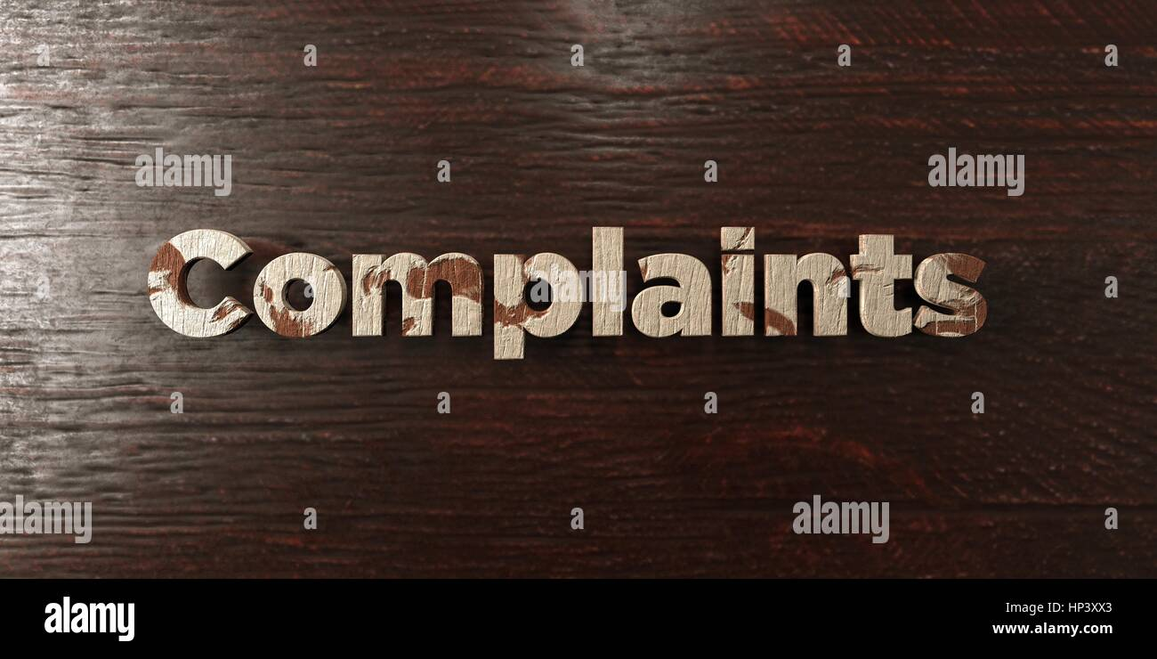 Complaints - grungy wooden headline on Maple  - 3D rendered royalty free stock image. This image can be used for - Stock Image
