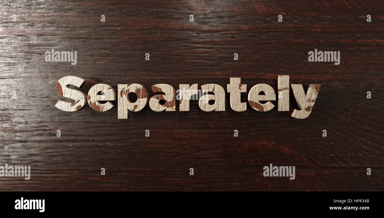 Separately - grungy wooden headline on Maple  - 3D rendered royalty free stock image. This image can be used for - Stock Image