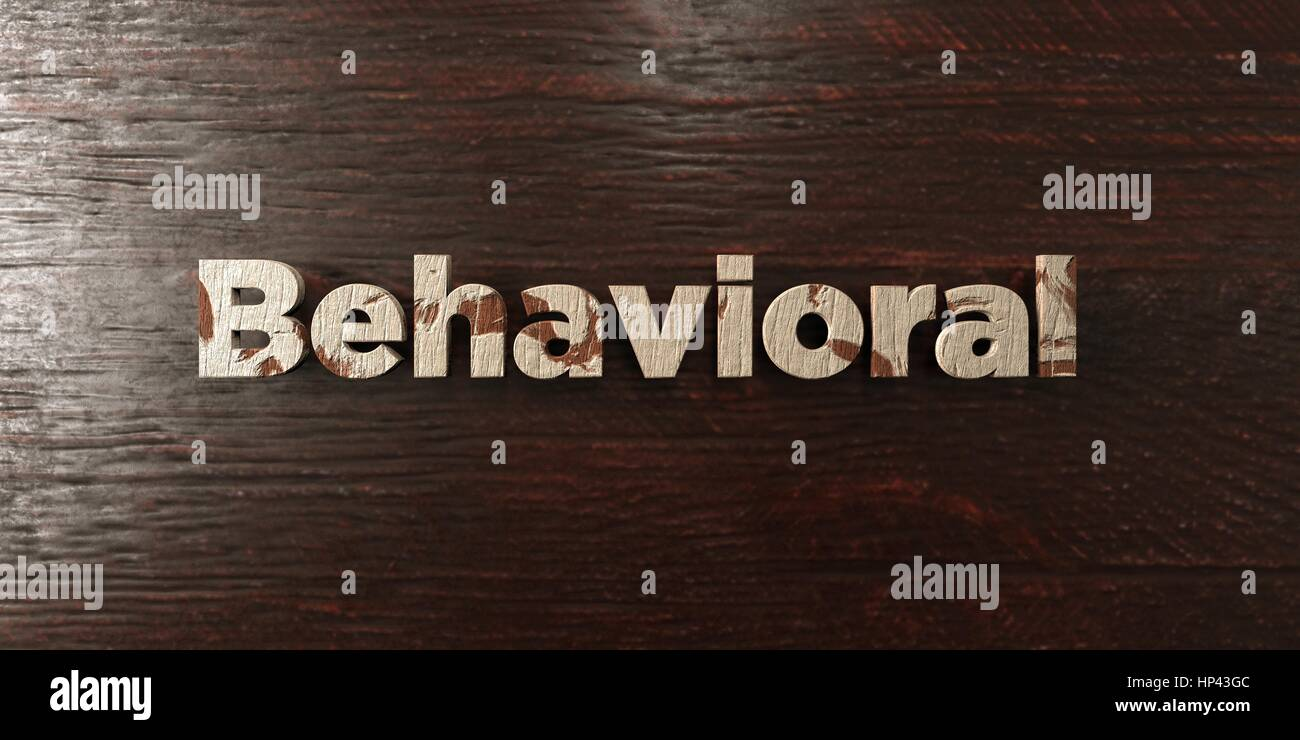 Behavioral - grungy wooden headline on Maple  - 3D rendered royalty free stock image. This image can be used for - Stock Image