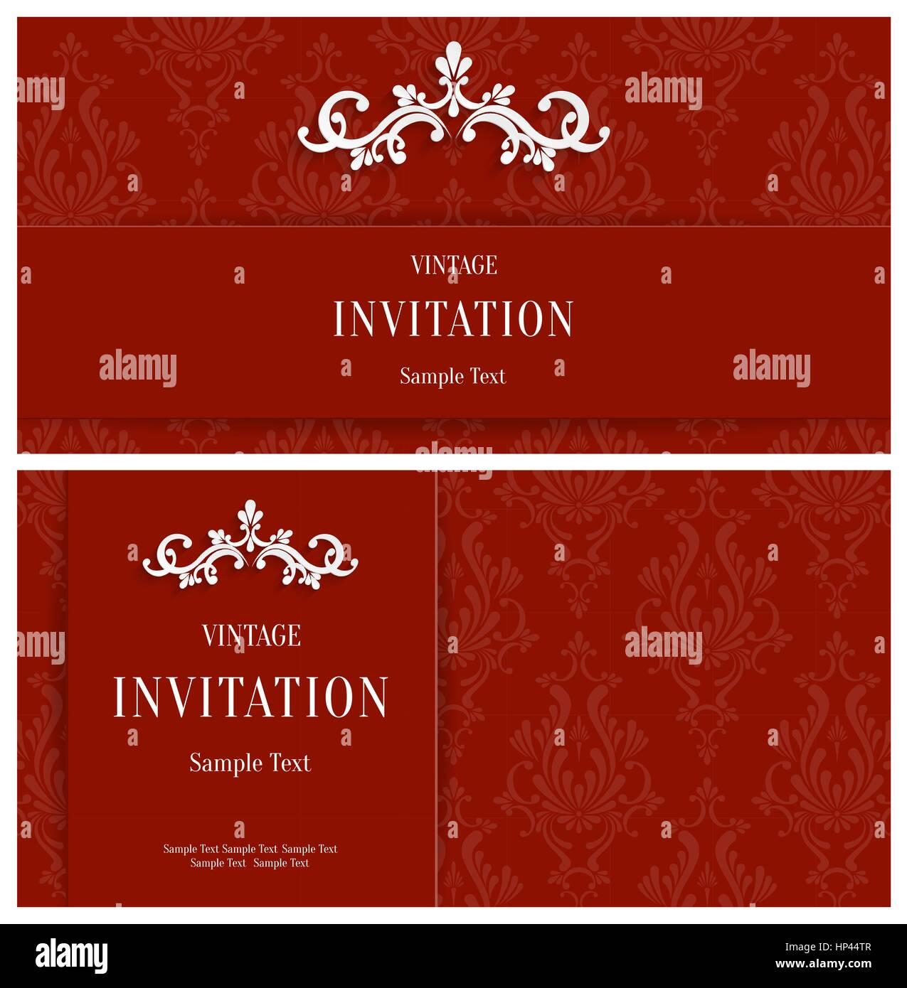 Winter Wedding Invitation Vector Vectors Stock Photos & Winter ...