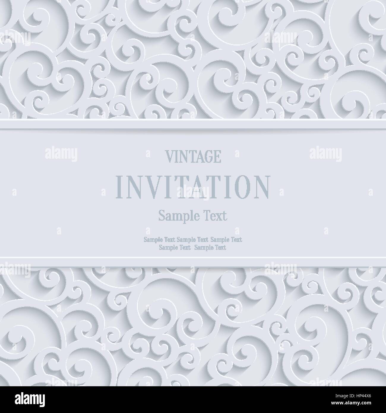 Floral swirl vector white 3d christmas or weddind invitation cards floral swirl vector white 3d christmas or weddind invitation cards background with curl damask pattern stopboris Image collections