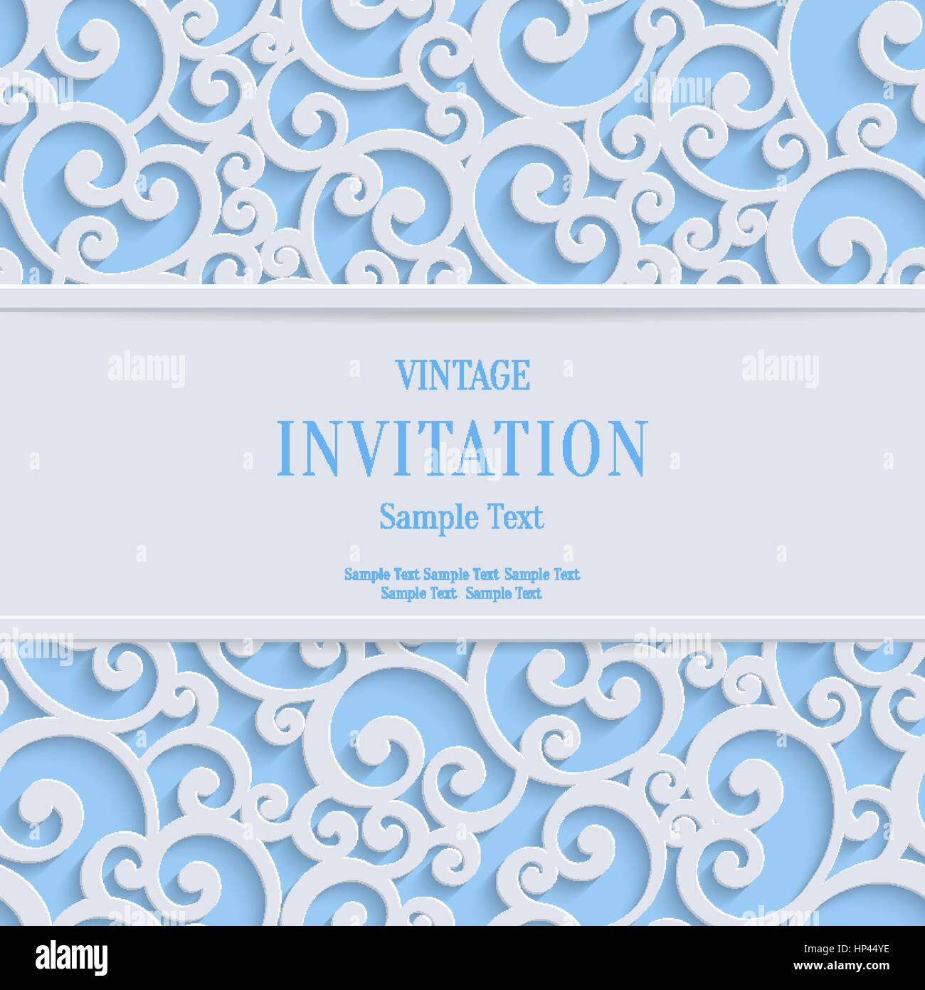 Floral swirl vector blue 3d christmas or weddind invitation cards floral swirl vector blue 3d christmas or weddind invitation cards background with curl damask pattern stopboris Image collections