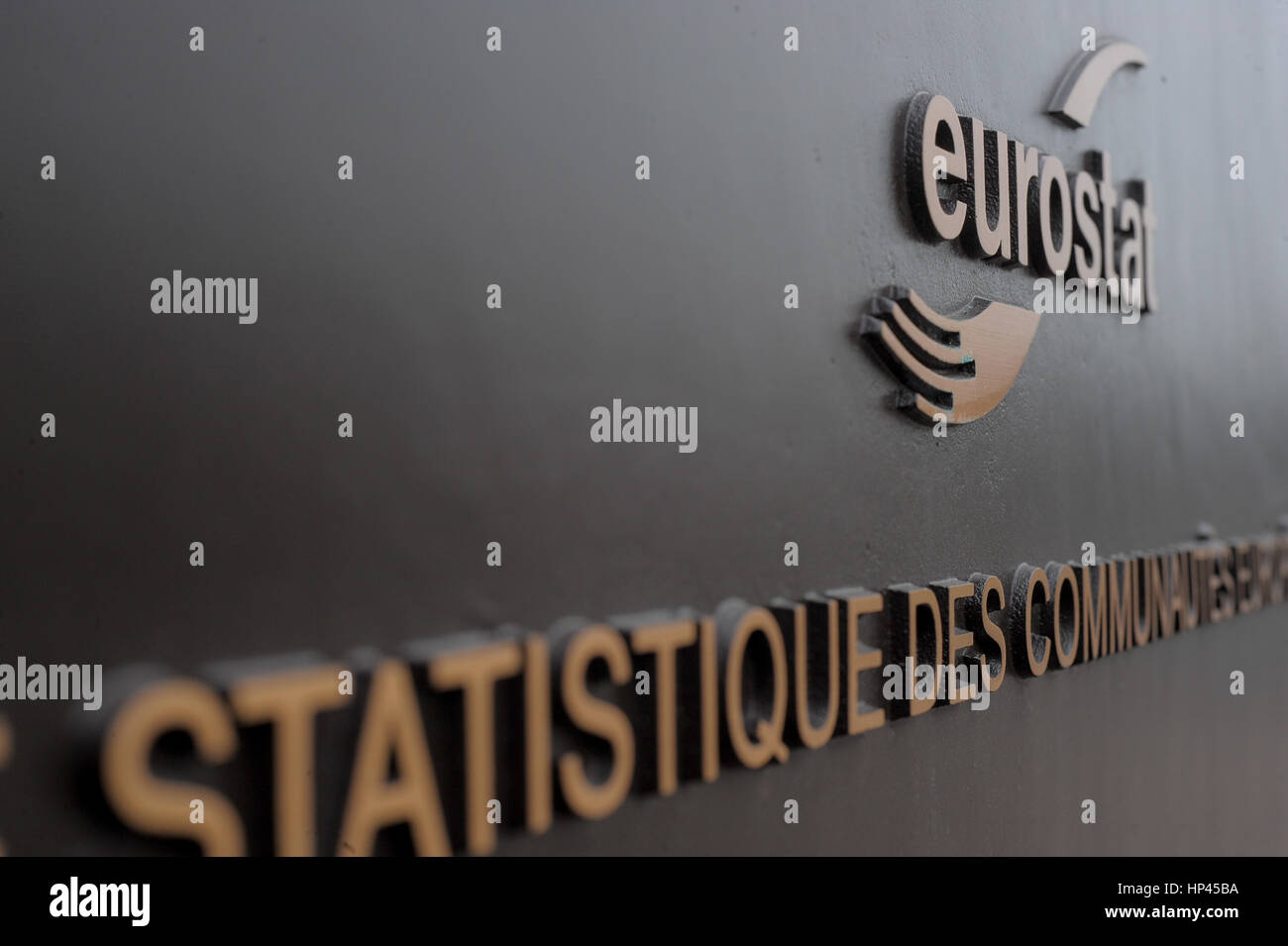 Luxembourg 08.04.2010 View of Eurostat of European union. - Stock Image