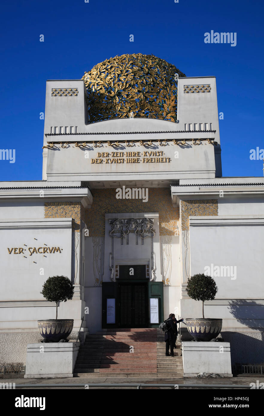Vienna Secession building, Vienna, Austria, Europe - Stock Image