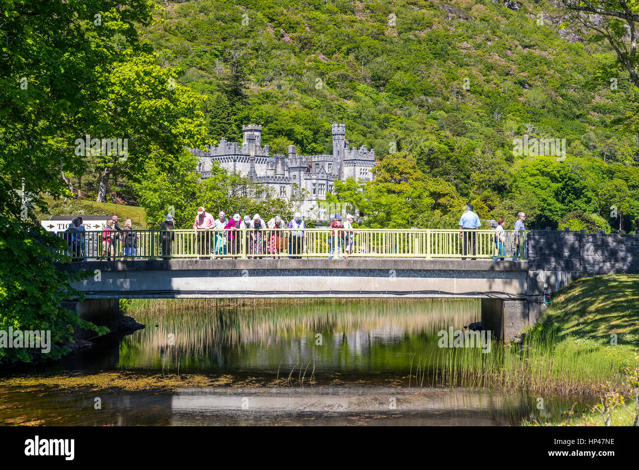 Kylemore Abbey a Benedictine monastery founded in 1920 on the grounds of Kylemore Castle, Connemara, County Galway, Stock Photo