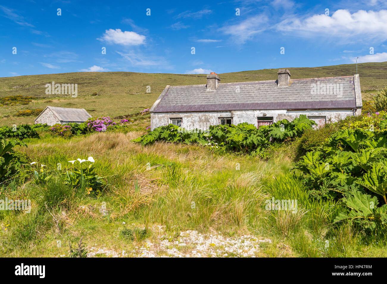 Old Cottage at Achill Island, County Mayo, Ireland, Europe. - Stock Image