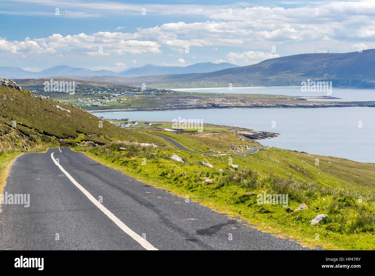 Achill Island seen from Wild Atlantic Way, County Mayo, Ireland, Europe. - Stock Image