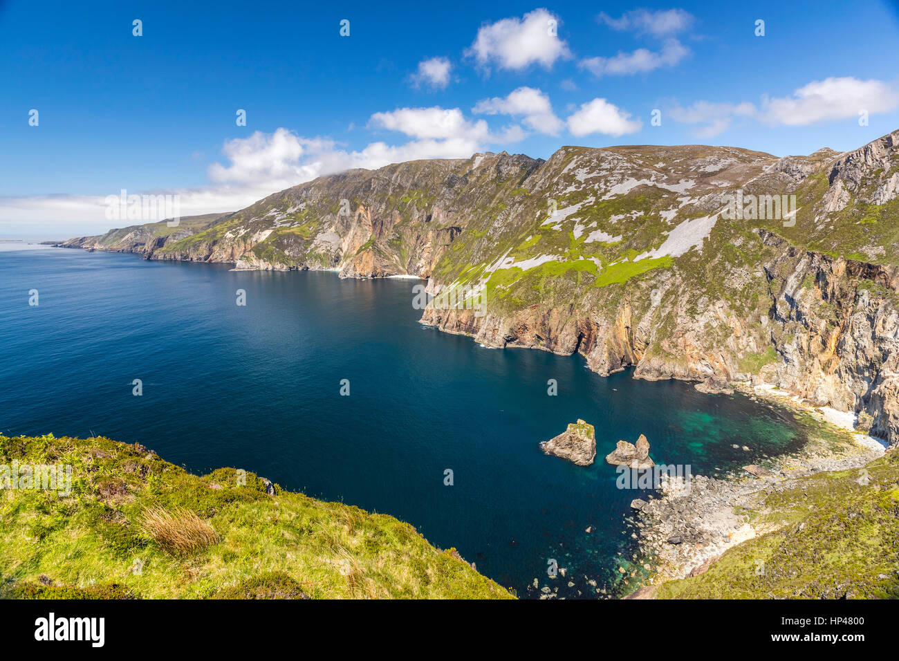 Slieve League cliffs near Carrick in county Donegal, Ireland, Europe. - Stock Image