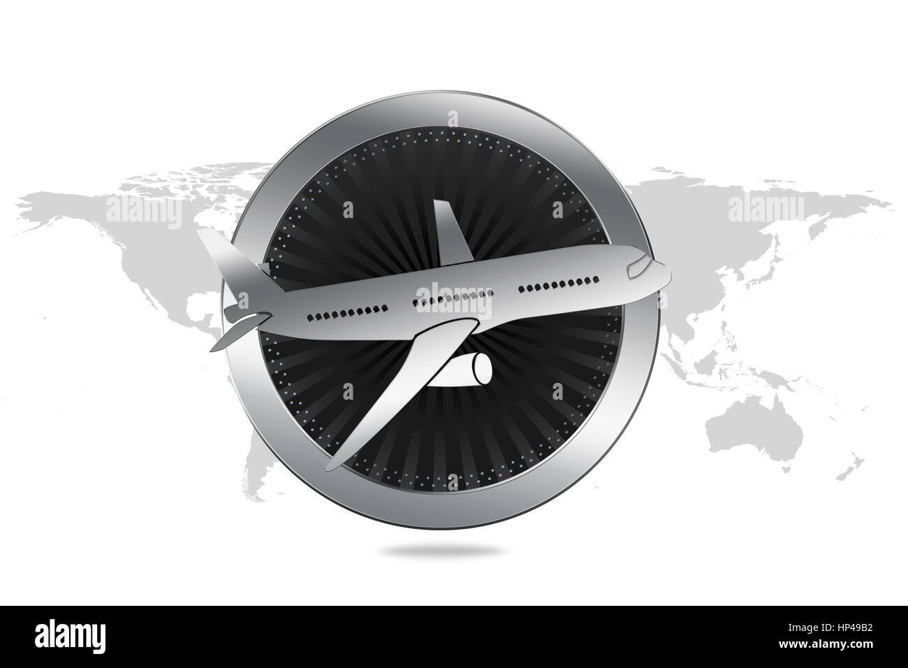 Travel Symbol / Airplane - Airline Symbol in Luxury style - Stock Image