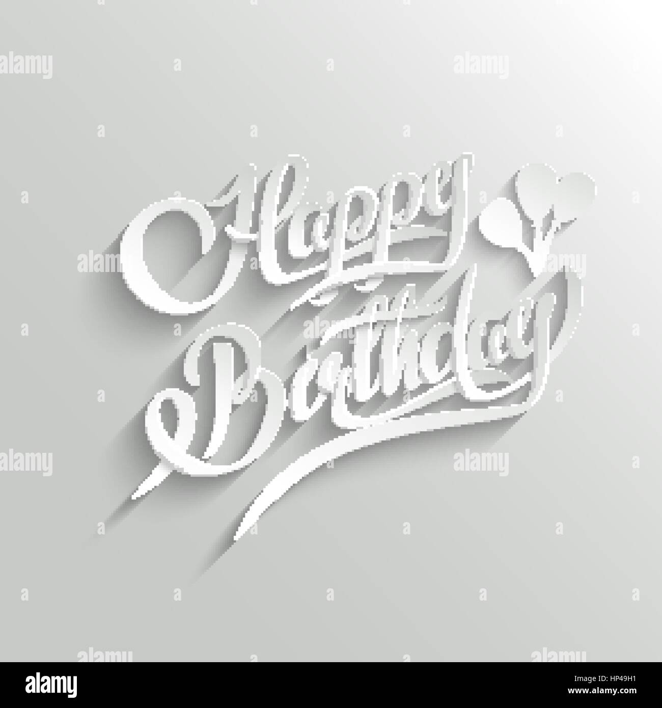 Happy birthday hand lettering greeting card vector background stock happy birthday hand lettering greeting card vector background invitation card handmade calligraphy 3d text with shadow stopboris Choice Image