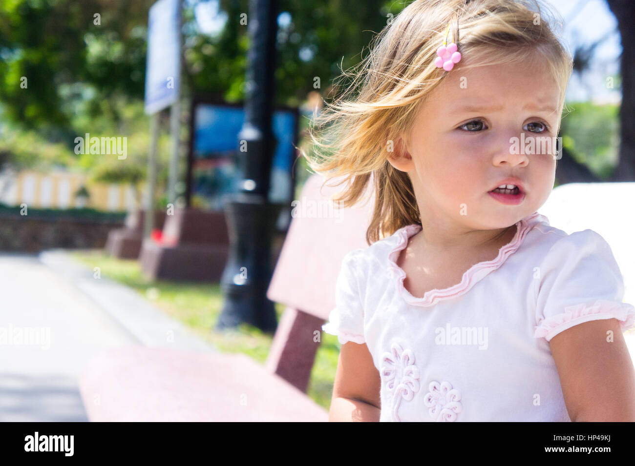 Cute Child Hot Sunny Day Stock Photos  Cute Child Hot -6471