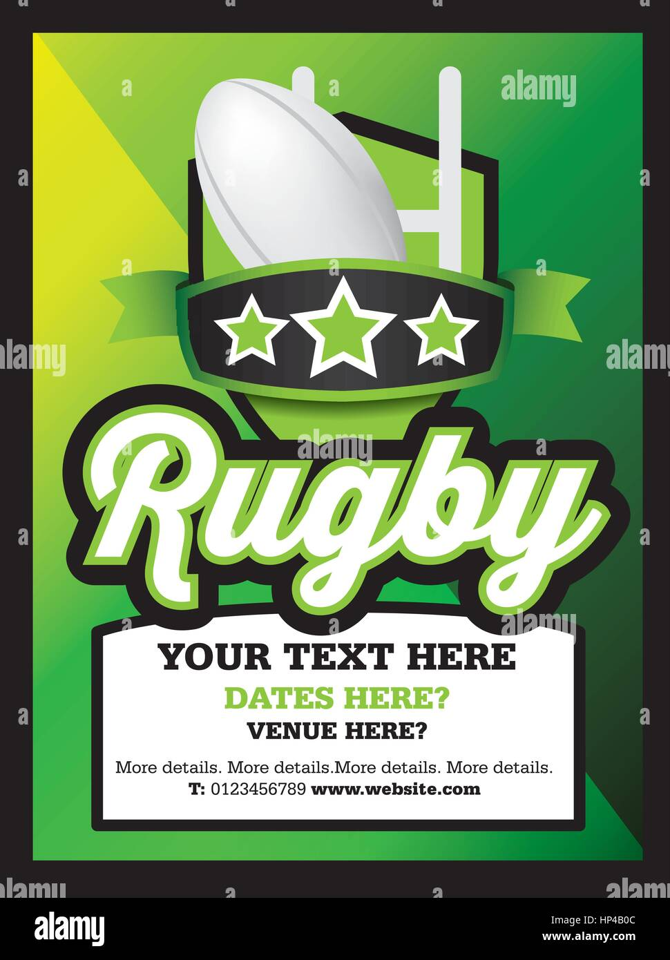 poster ad advertisement marketing or promotion flyer for a rugby