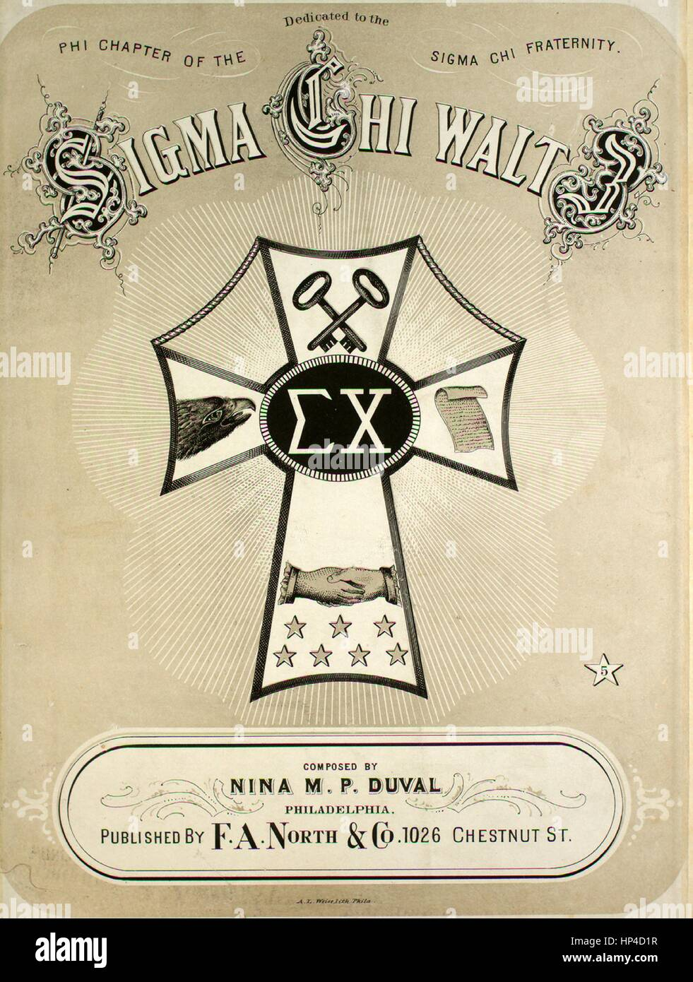 Sheet Music Cover Image Of The Song Sigma Chi Waltz With Original