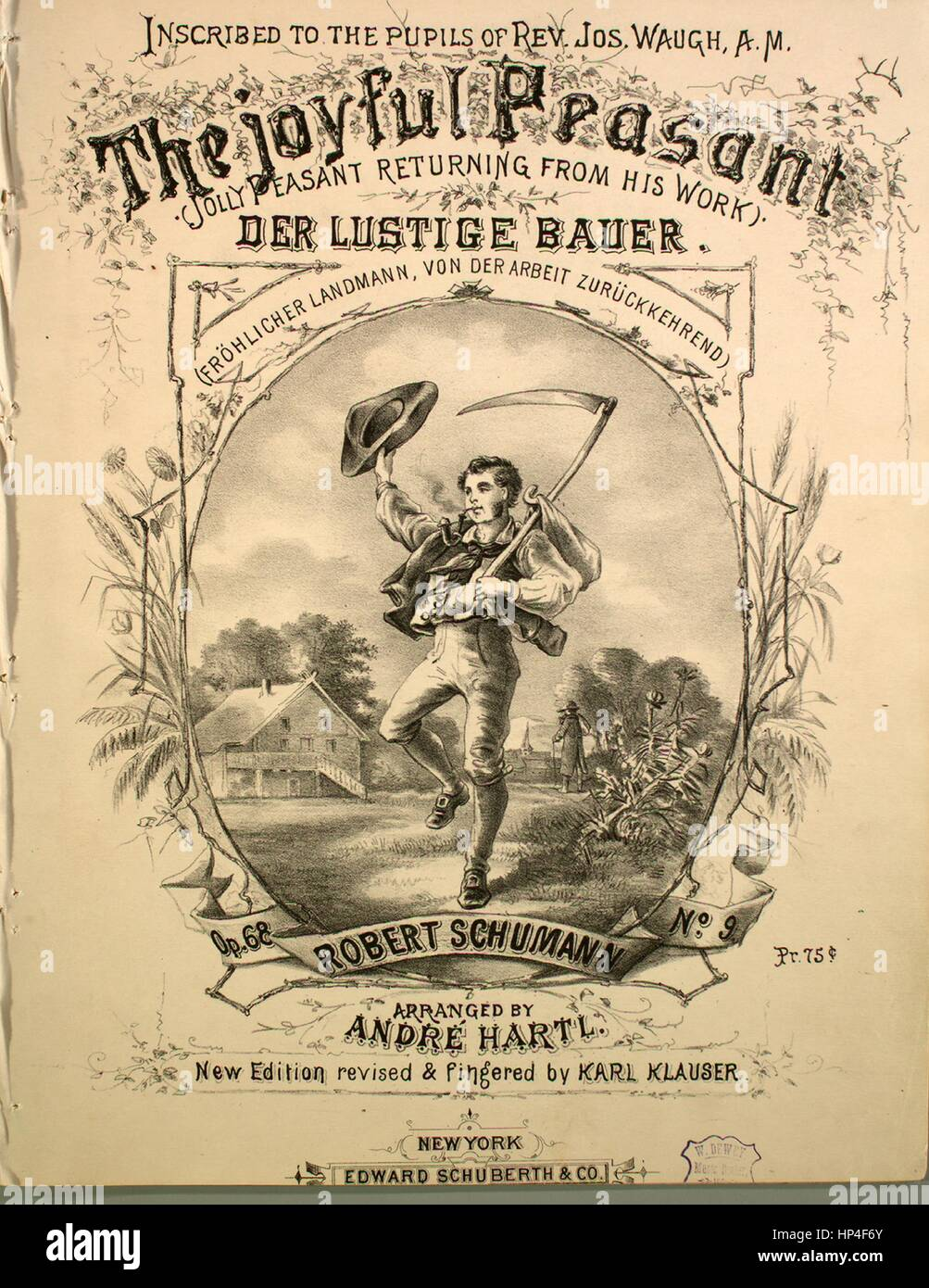 Sheet music cover image of the song 'The Joyful Peasant (Jolly Peasant Returning From His Work) Der Lustige - Stock Image