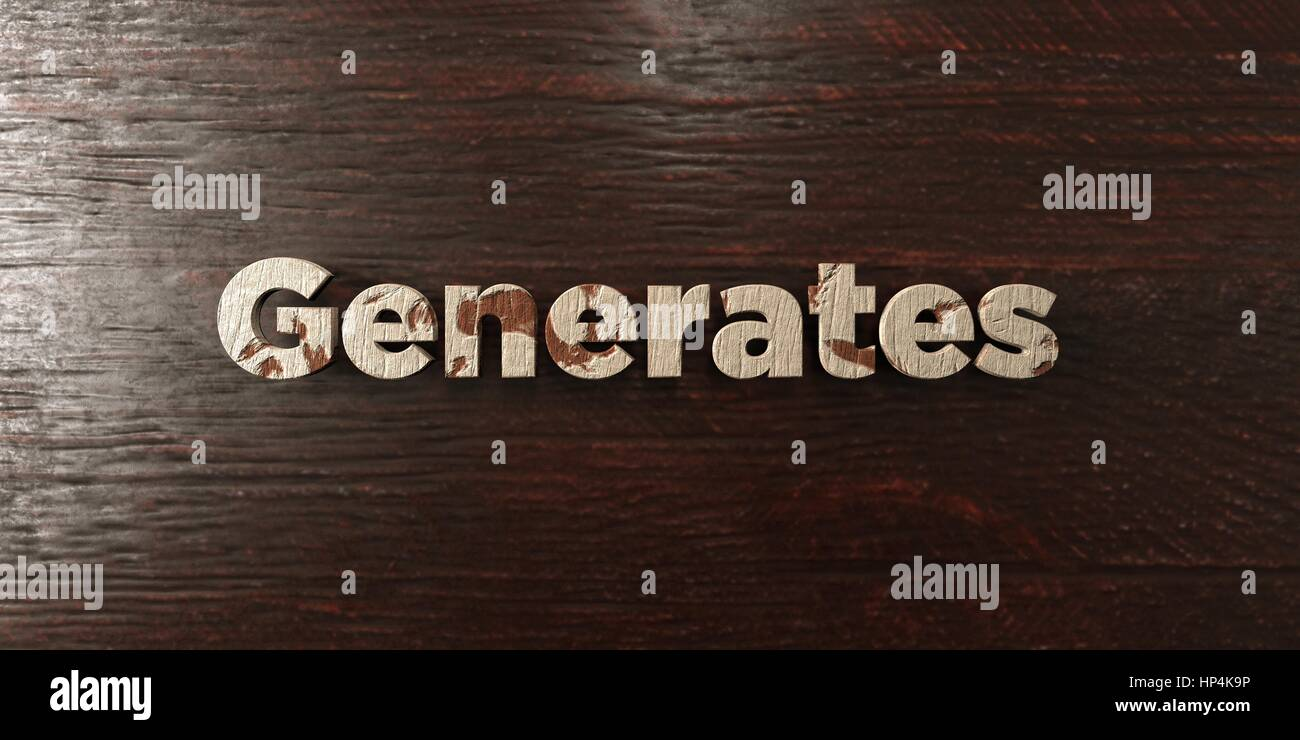 Generates - grungy wooden headline on Maple  - 3D rendered royalty free stock image. This image can be used for - Stock Image