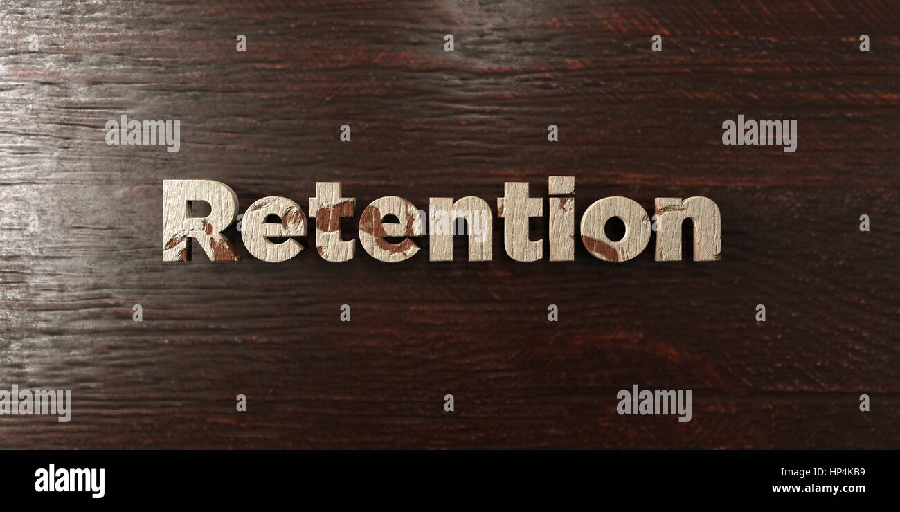 Retention - grungy wooden headline on Maple  - 3D rendered royalty free stock image. This image can be used for - Stock Image