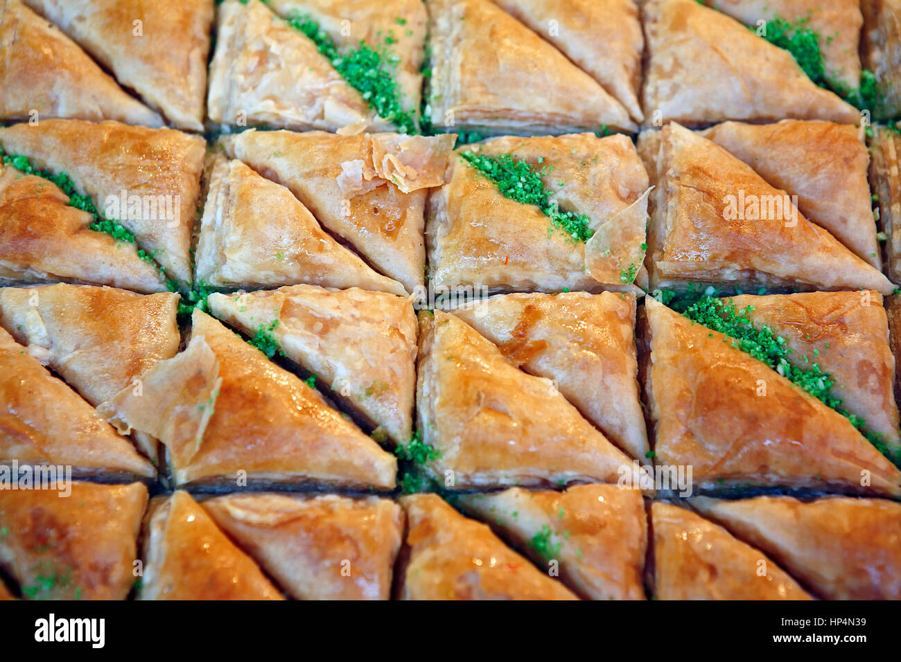 close up pastries at shop in carmel market, tel aviv, israel Stock Photo