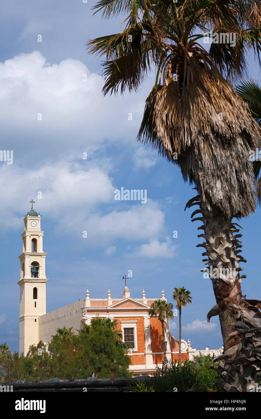 St. Peter's Church in old city, tel aviv-yafo, israel Stock Photo