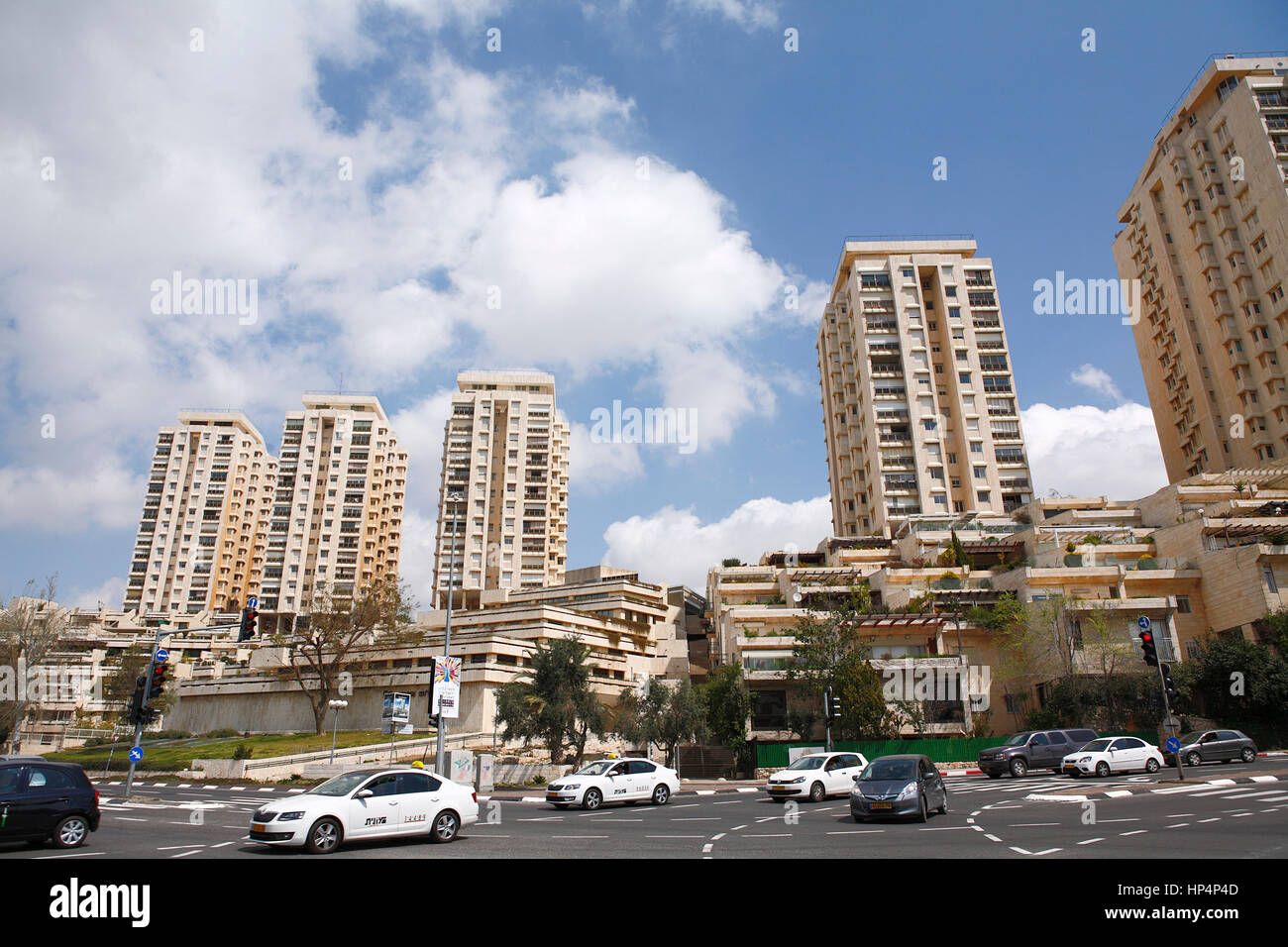 apartement building in the city of jerusalem, israel Stock Photo