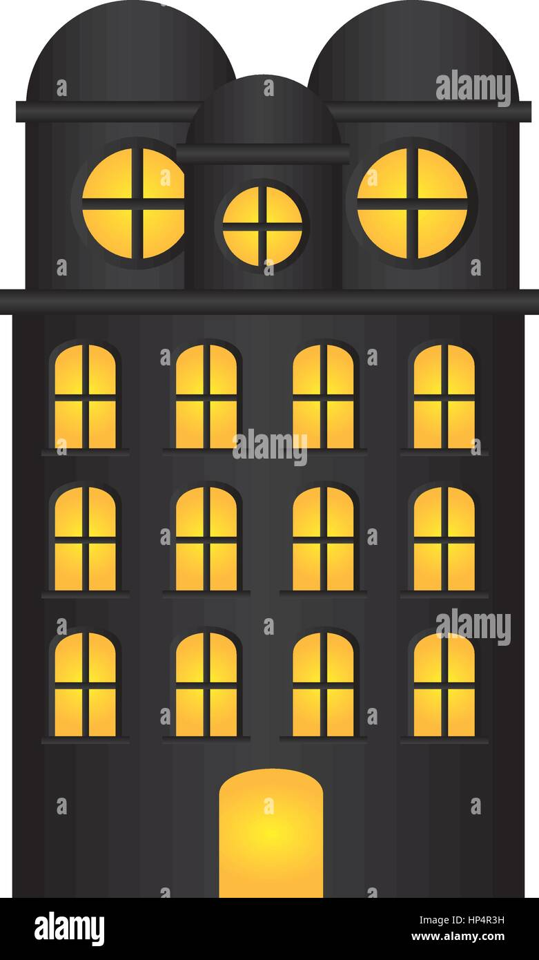 edifice residence with several floors - Stock Image