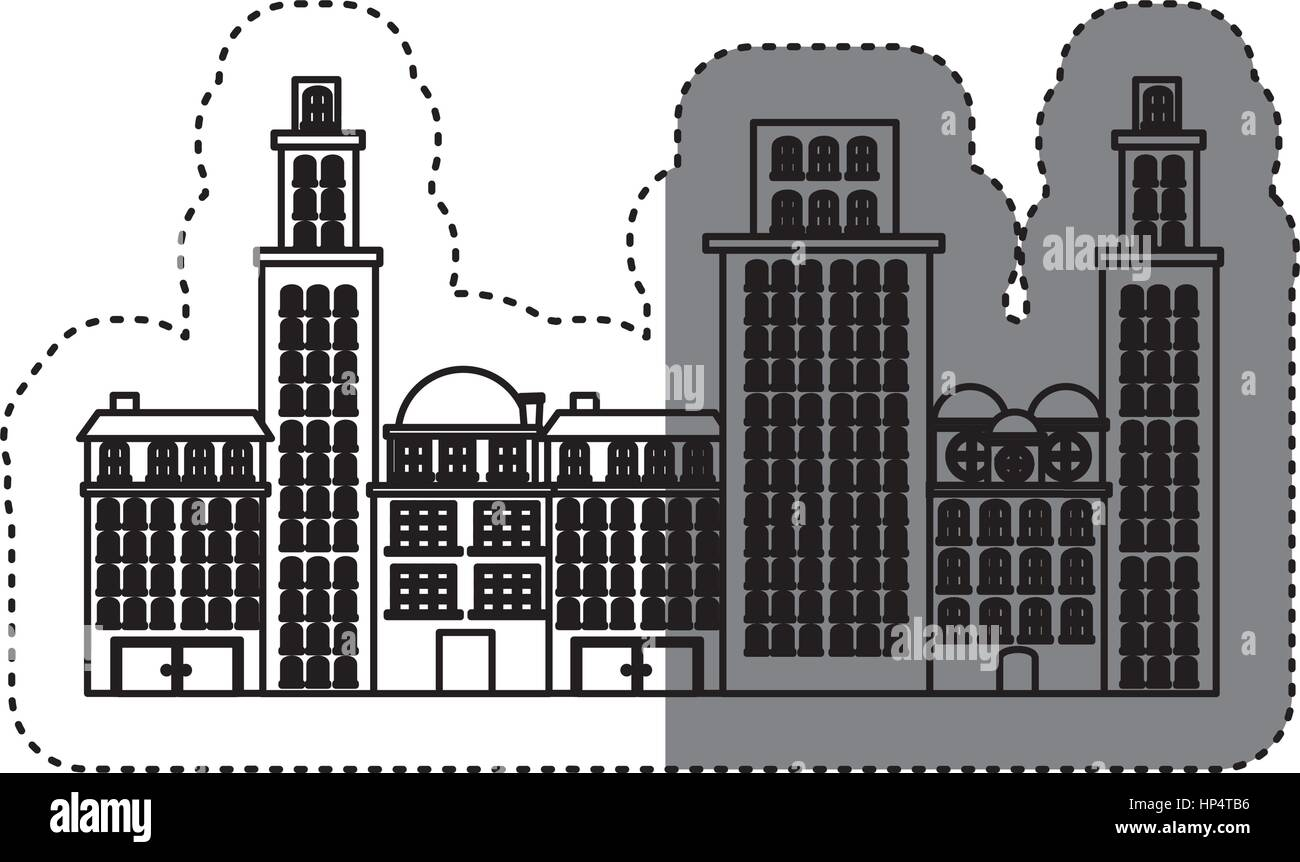 city buildings icon image - Stock Image