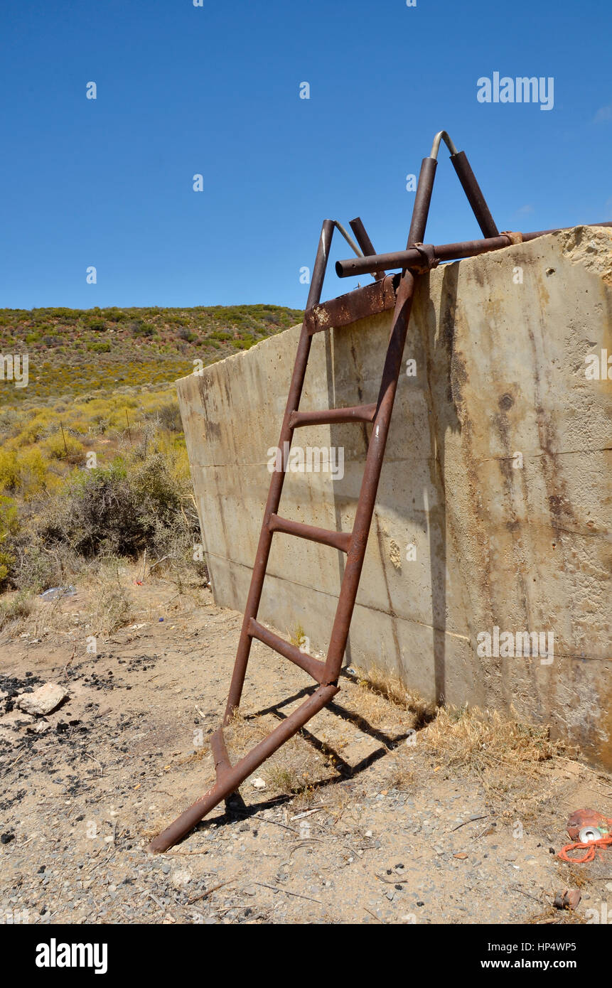 Broken Wooden Ladder