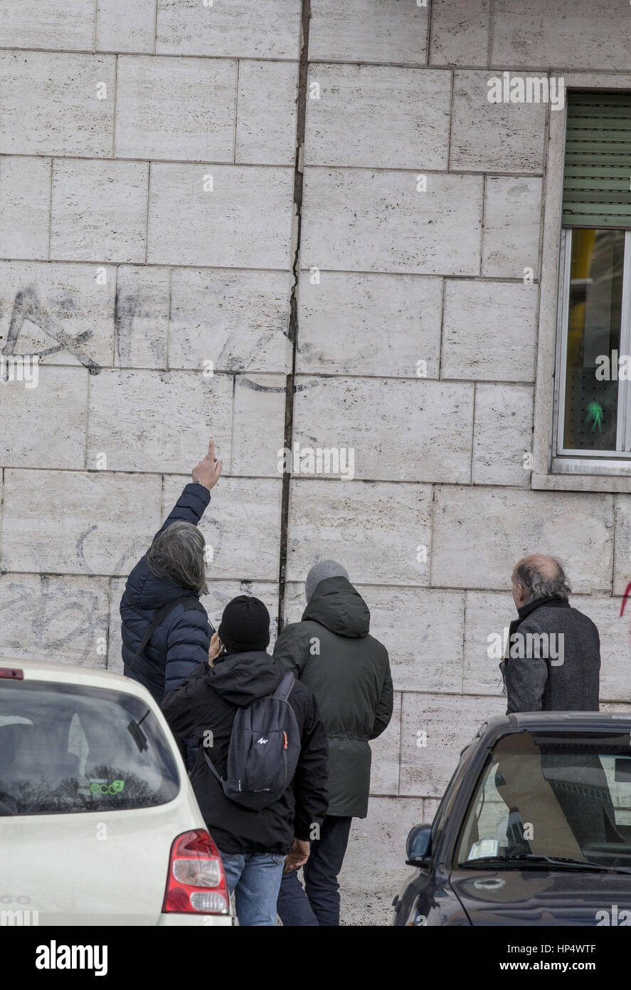 Three 'strong' earthquakes were felt in central Italy in the space of an hour, with people in Rome saying - Stock Image
