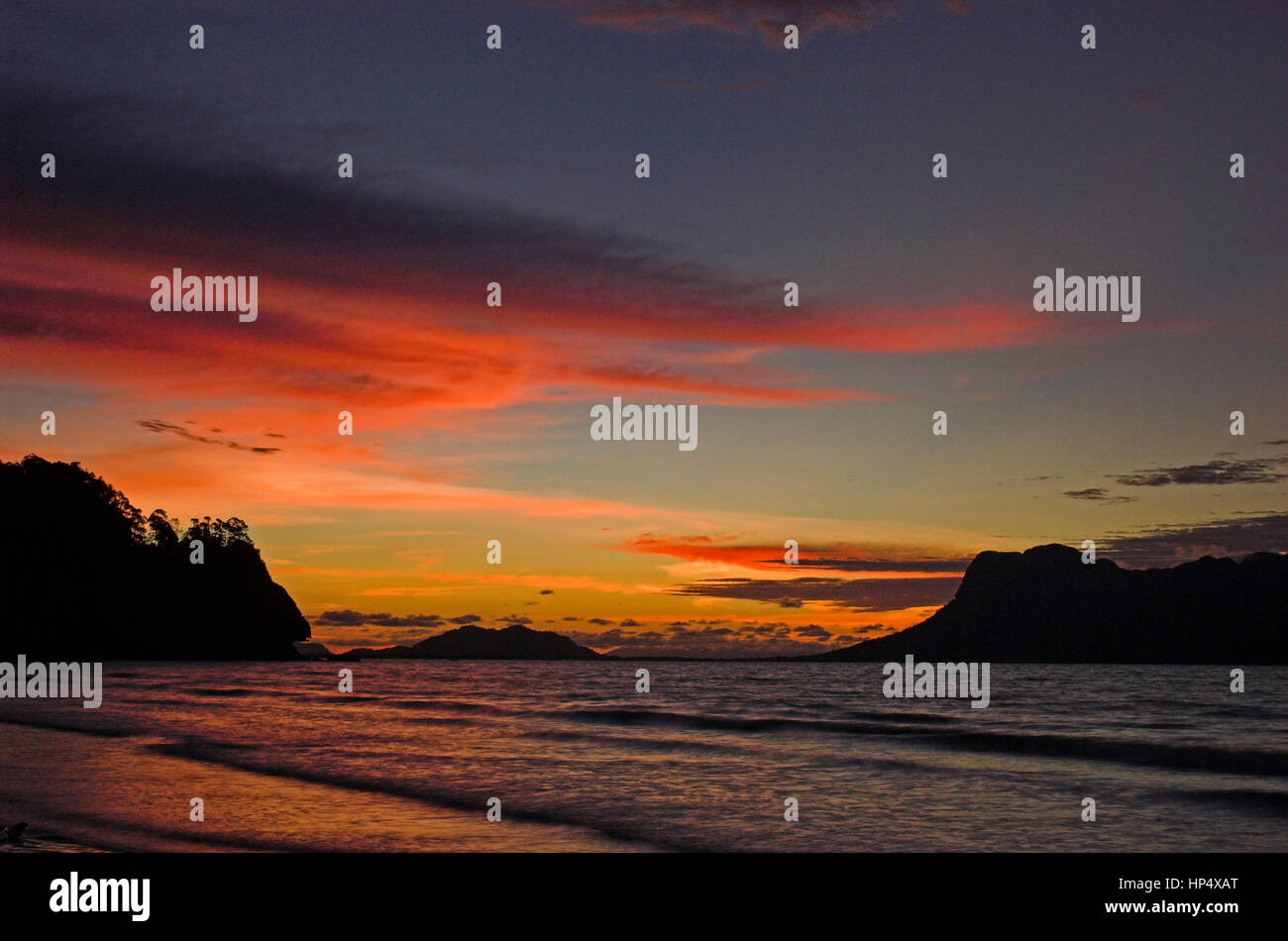 Landscape Tropical Beach Sunset With Incredible Colors