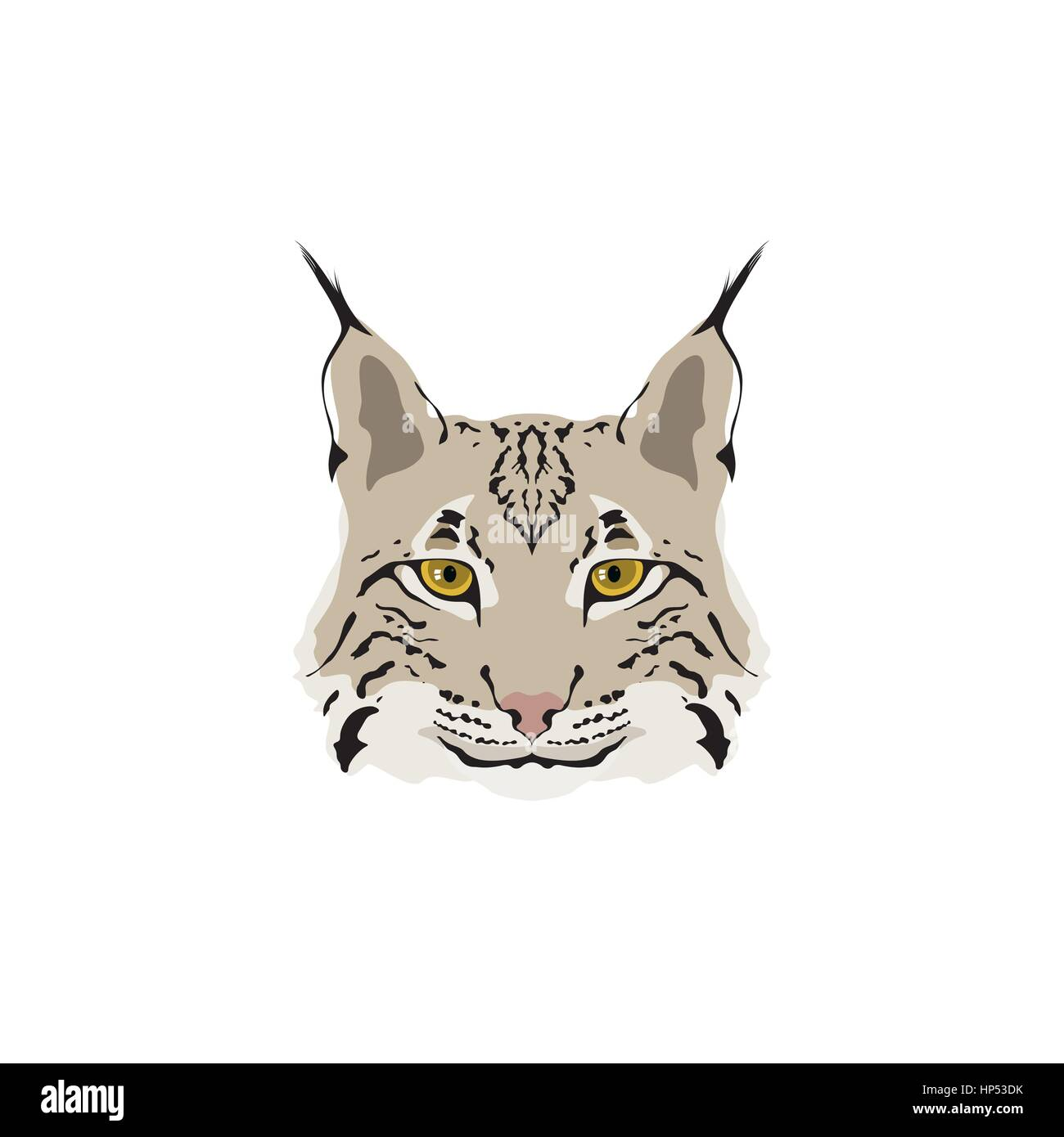 Head Of Lynx Isolated On White Background Mascot Logo Vector Stock