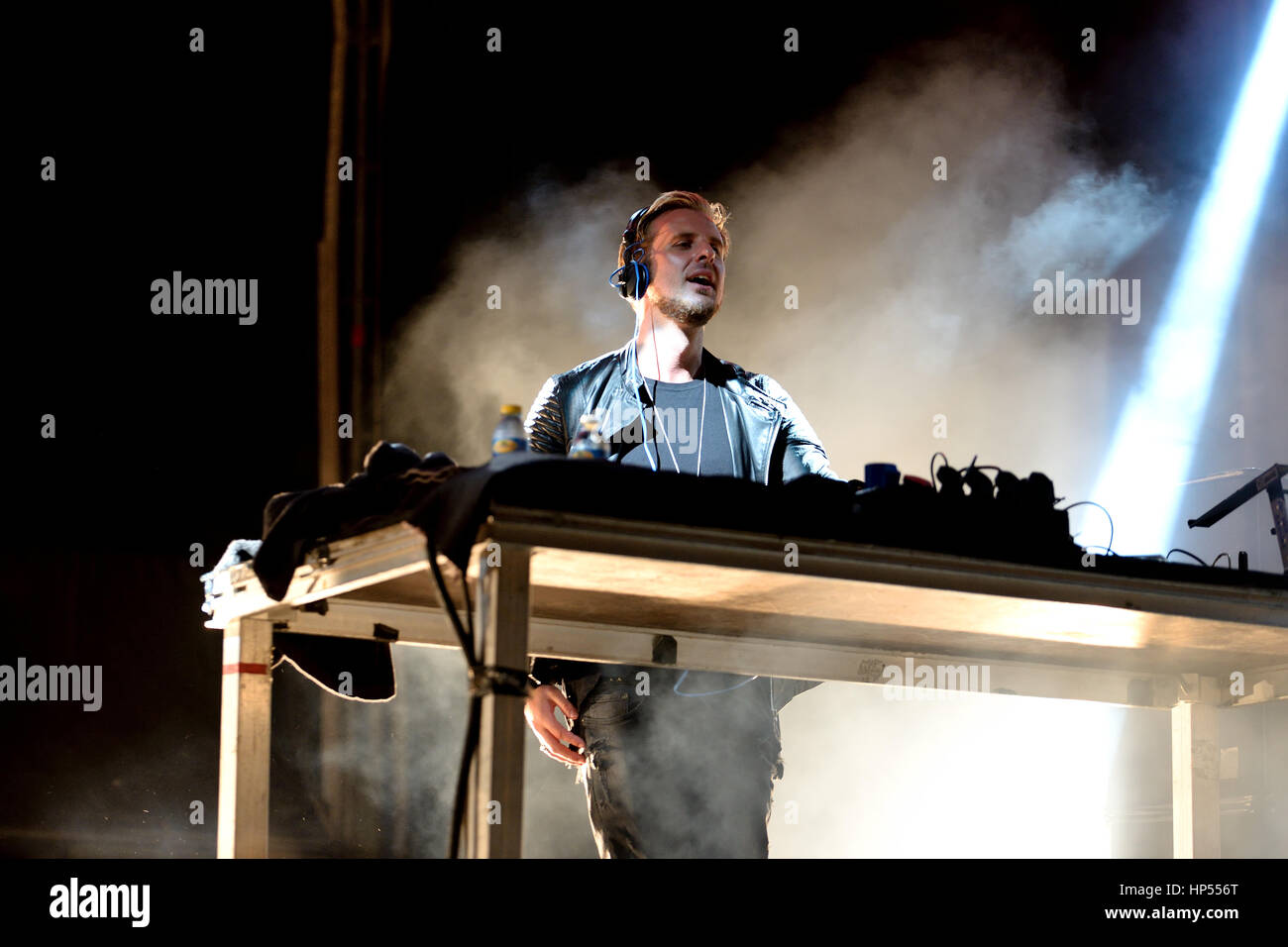 VALENCIA, SPAIN - APR 5: Sigma (band) performs at MBC Fest on April 5, 2015 in Valencia, Spain. - Stock Image
