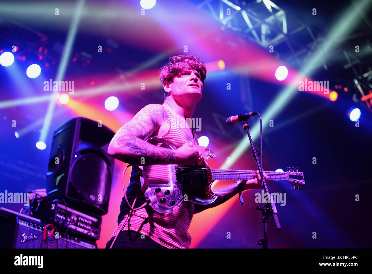 BARCELONA - MAY 30: Thee Oh Sees (band) performs at Primavera Sound 2015 Festival on May 30, 2015 in Barcelona, - Stock Image
