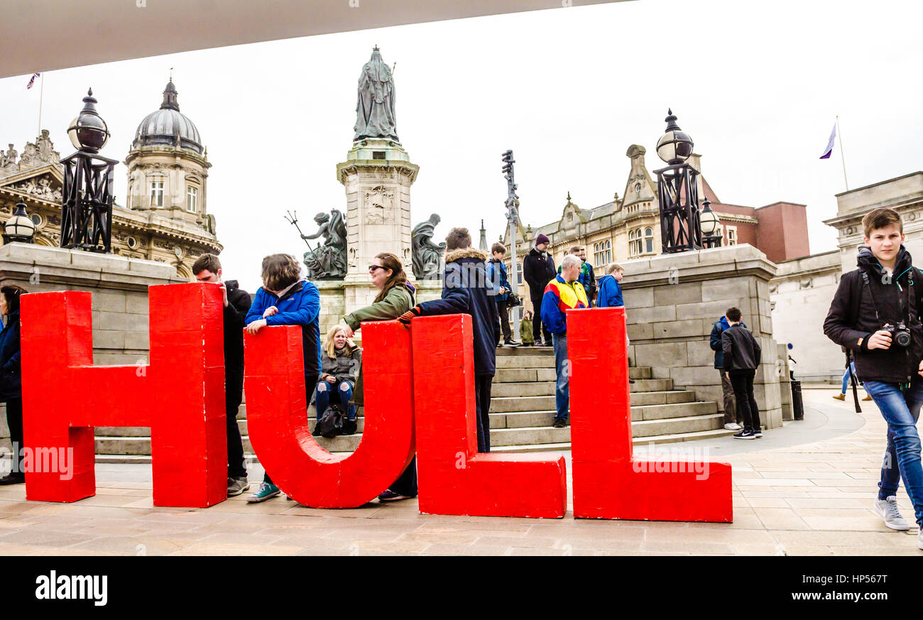 Made In Hull Letters display under Blade - Stock Image