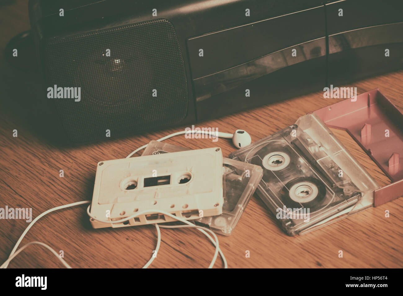 Retro cassette recorder - Stock Image