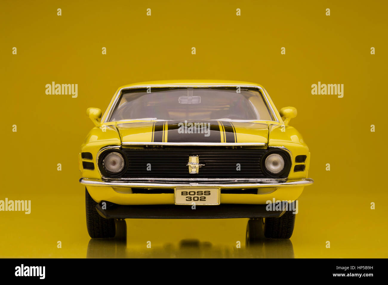 1970 Ford Mustang Boss 302 Welly Die Cast Model Car Stock Photo