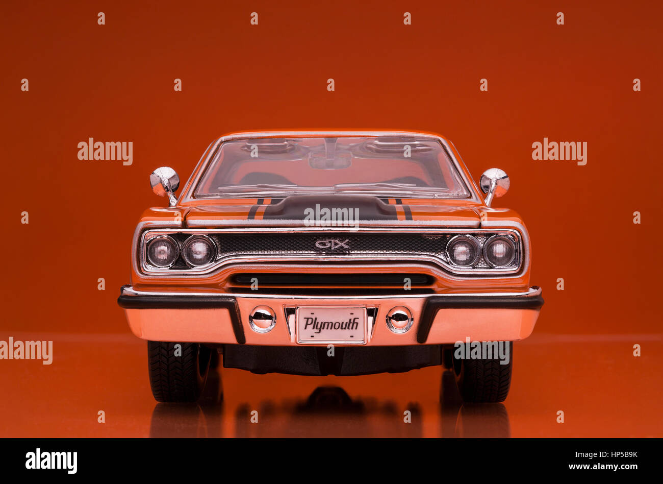 1970 Plymouth GTX Welly die cast model car Stock Photo