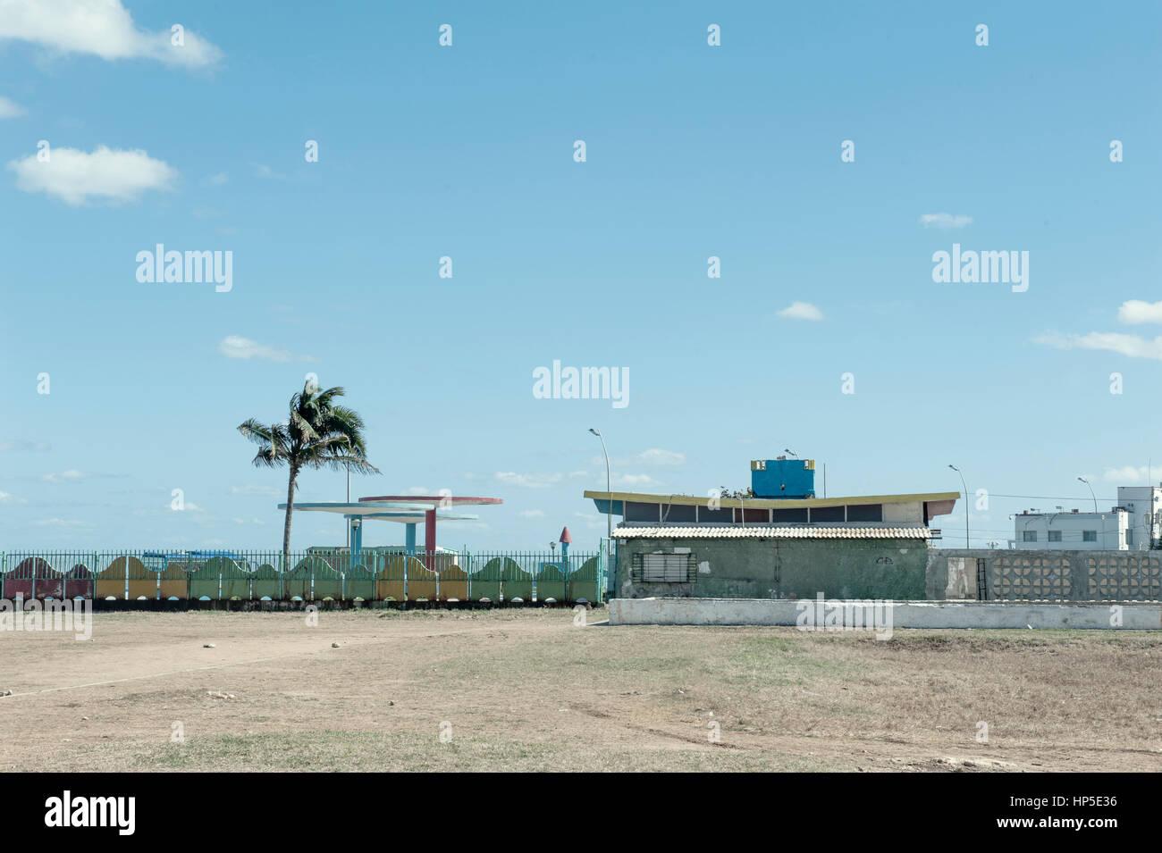 lungo il Malecon uno stabilimento. Stock Photo