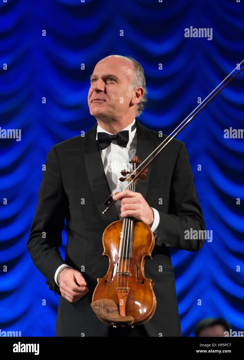 Sochi, Russia  18th Feb, 2017  Italian violinist Massimo