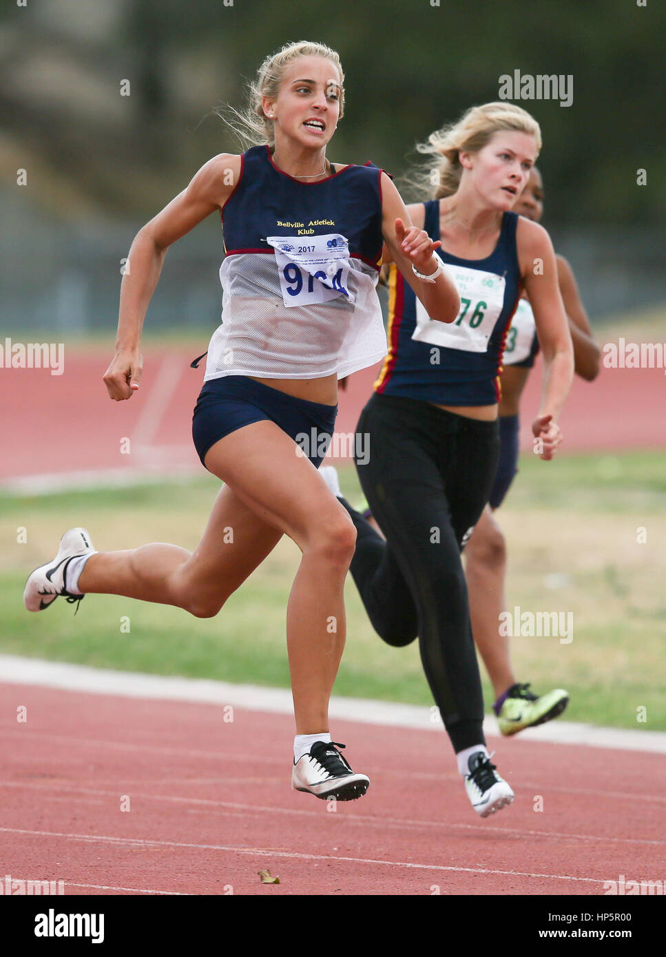 Cape Town, South Africa. 18th February, 2017.  during the second WP Athletics League track and field meeting at - Stock Image