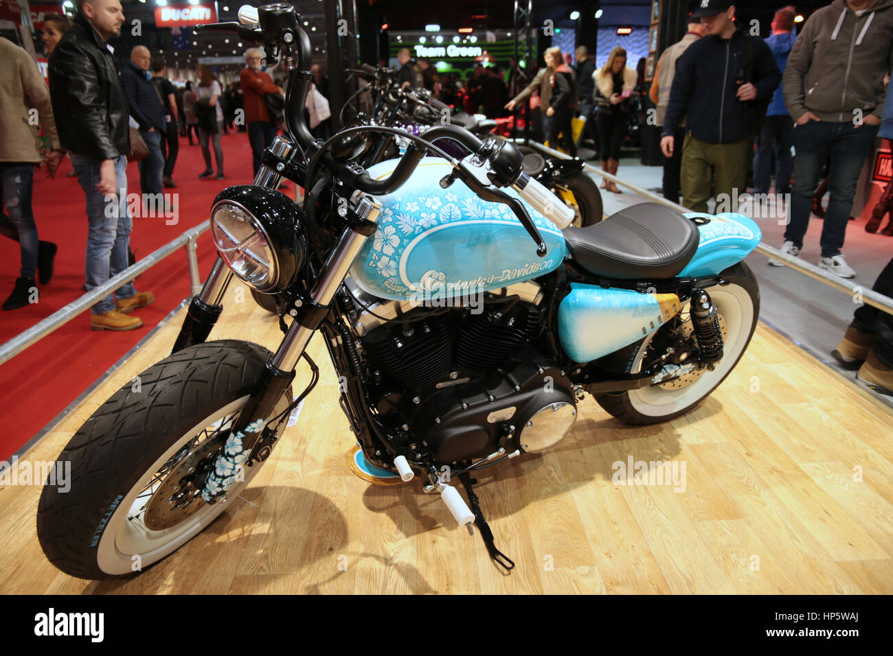 London UK  19-February-2017 The Carole Nash MCN Motorcycle Show 2017 had 22 of the world's leading manufacturers - Stock Image