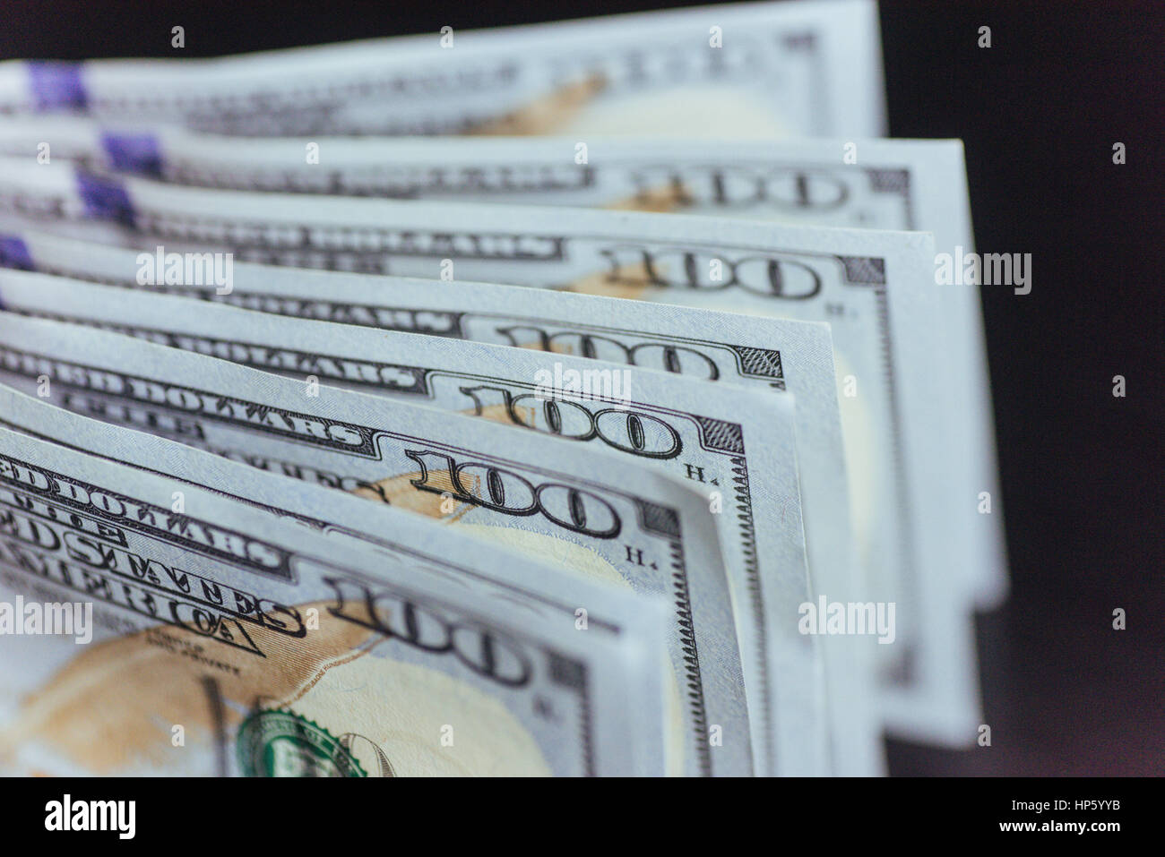 American Dollars. One Hundred Dollar Banknotes, 100  - Stock Image
