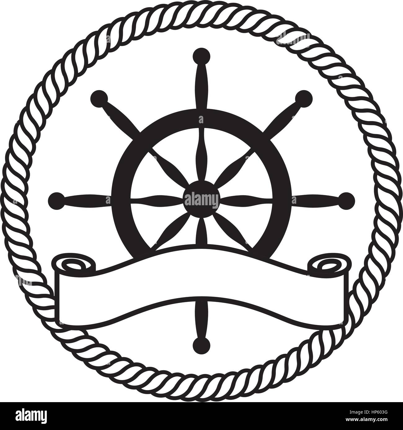 timon boat isolated icon vector illustration design - Stock Image