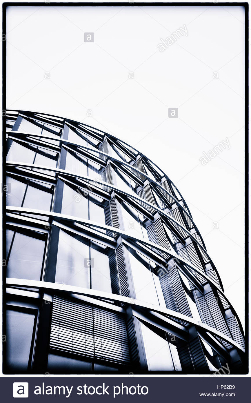 Modern office block building from below facade - Stock Image