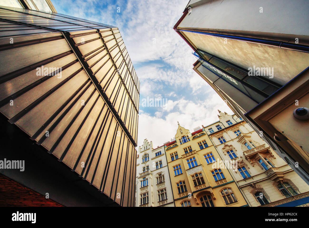 beautiful houses Czech Republic. Beauty world. - Stock Image
