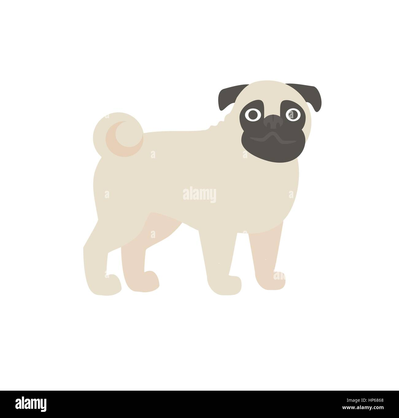 pug vector illustration Stock Vector