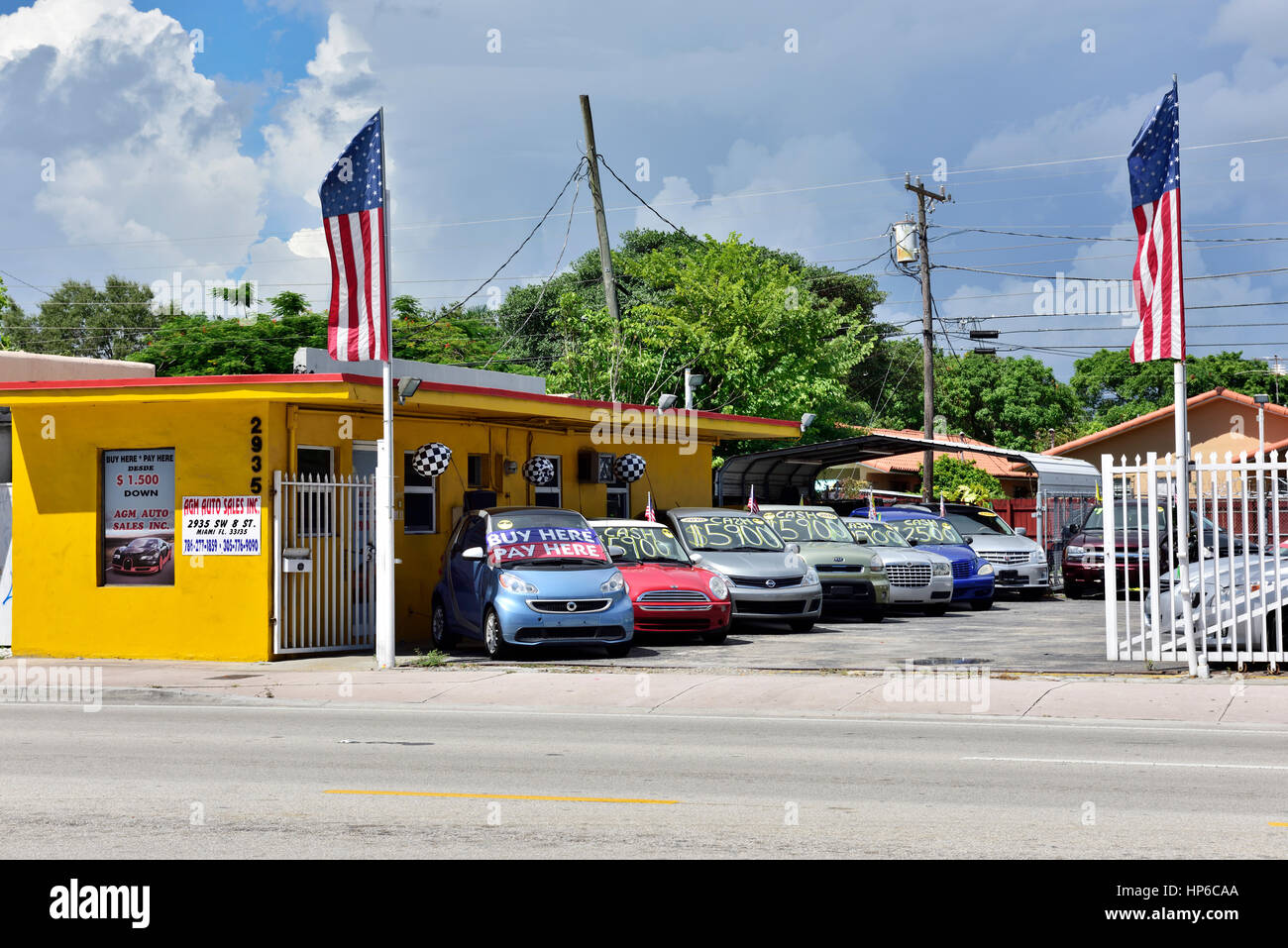 American used car lot Stock Photo: 134136418 - Alamy