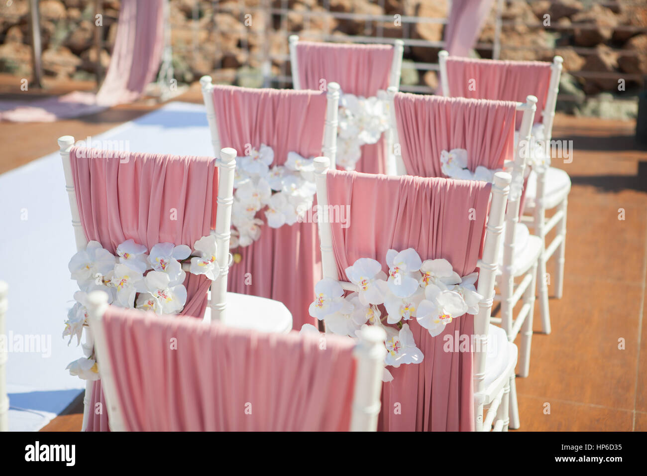 Orchid Wedding Table Decor Stock Photos & Orchid Wedding Table Decor ...