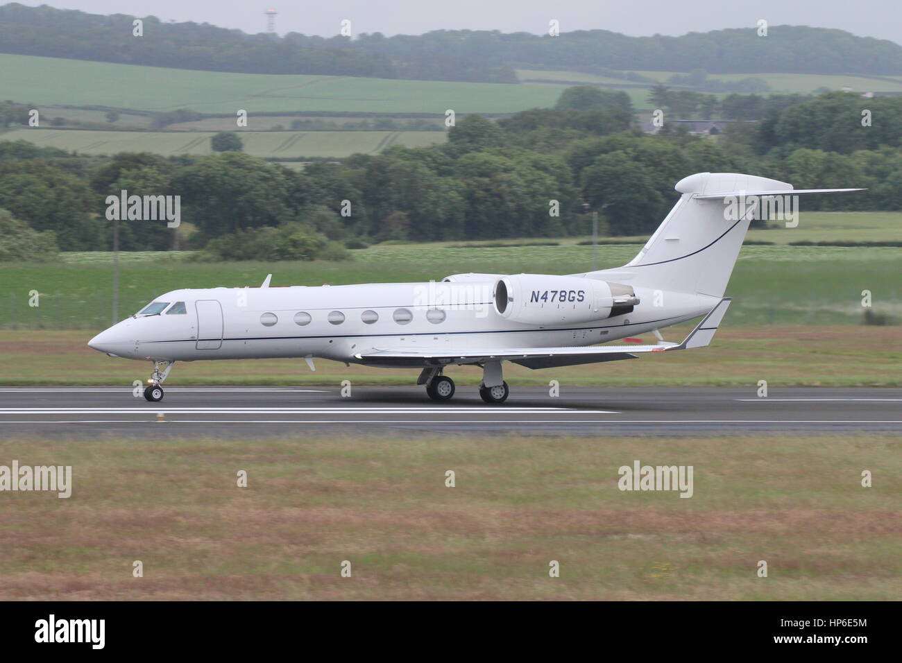 N478GS, a Gulfstream Aerospace G-IV, at Prestwick Airport in Ayrshire. It is thought that this aircraft was used - Stock Image