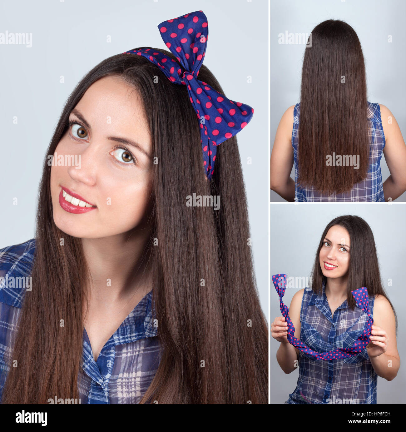 Simple Hairstyle For Long Hair Tutorial Hairstyle For Long Hair Stock Photo Alamy