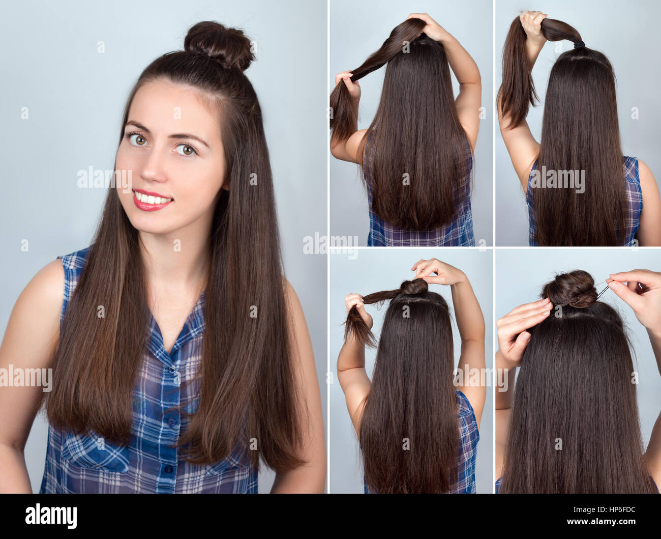 simple hairstyle twisted bun tutorial Hairstyle tutorial